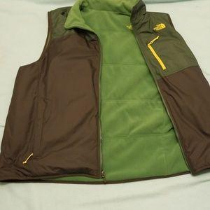 The North Face green reversable vest 2XL primaloft